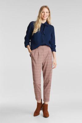 Lyocell blend blouse, BLUE DARK WASH, detail