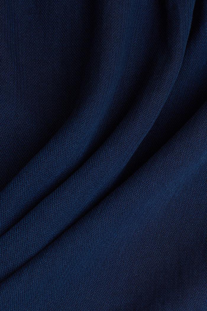 Lyocell blend blouse, BLUE DARK WASHED, detail image number 4