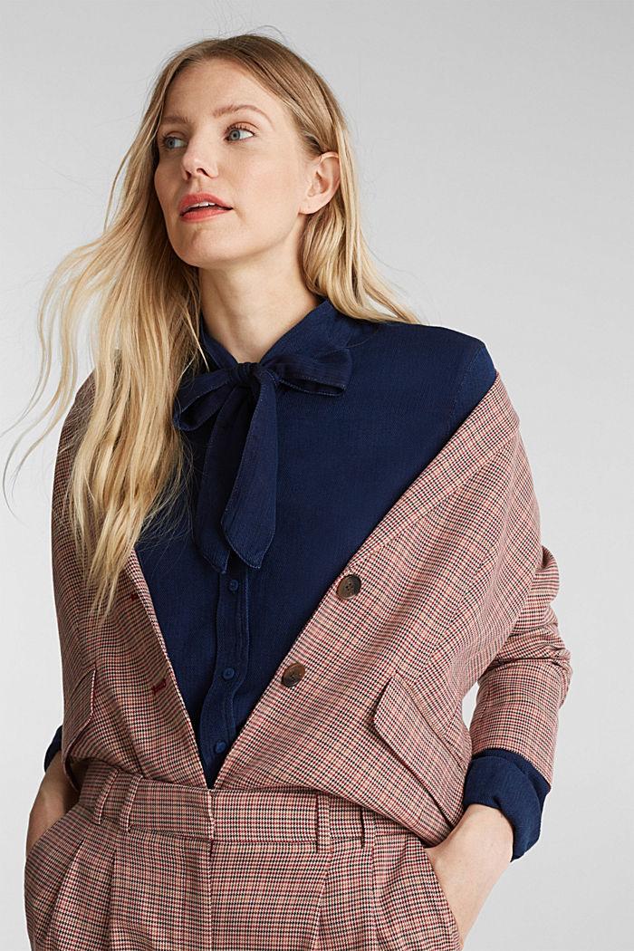 Lyocell blend blouse, BLUE DARK WASHED, detail image number 6