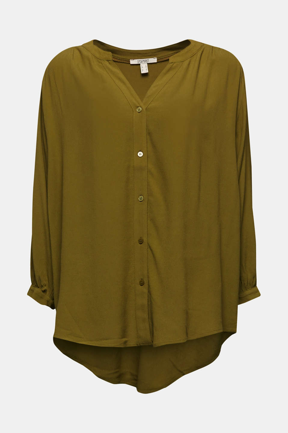 Blouse with LENZING™ ECOVERO™, OLIVE, detail image number 5