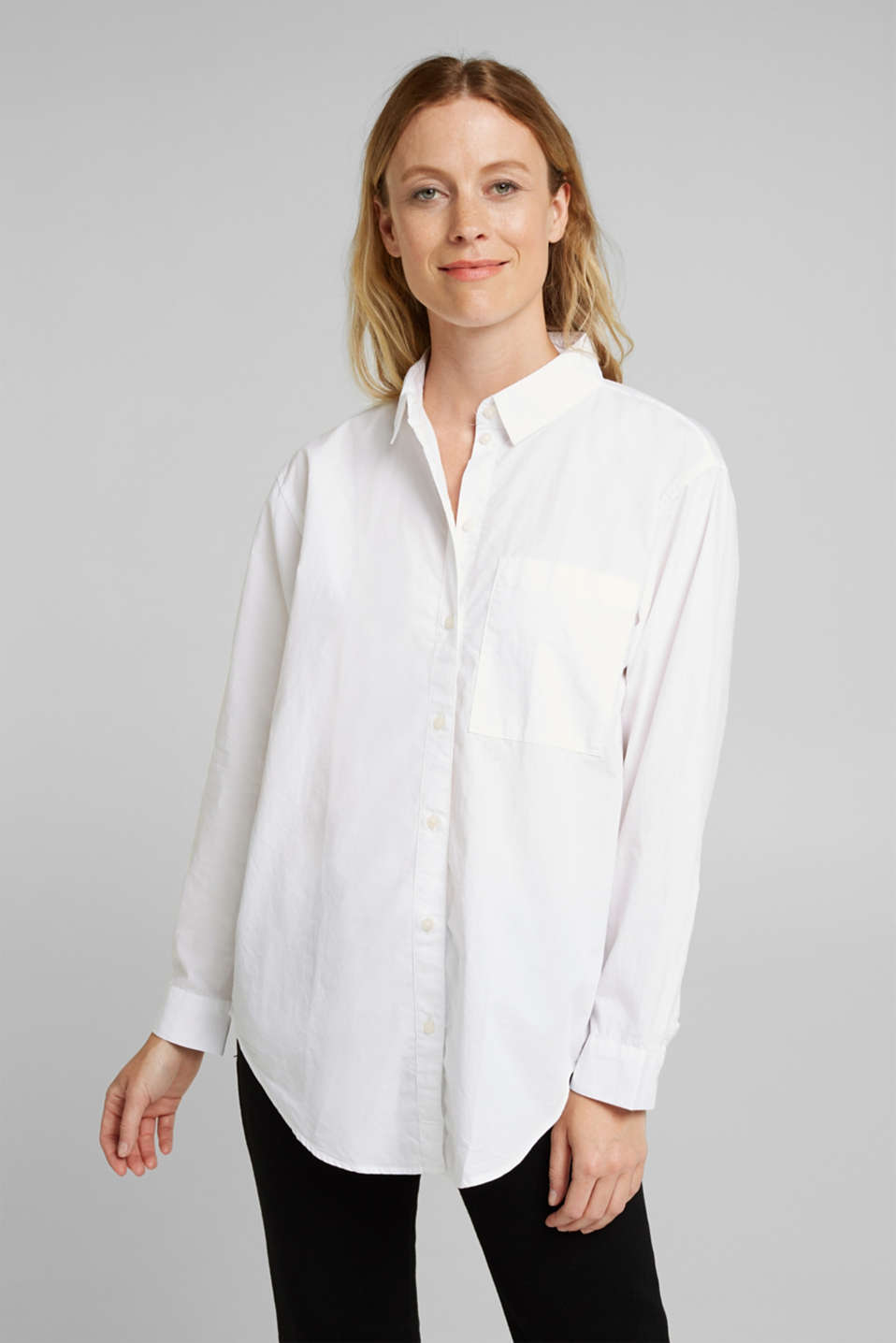Esprit - Blouse made of 100% organic cotton