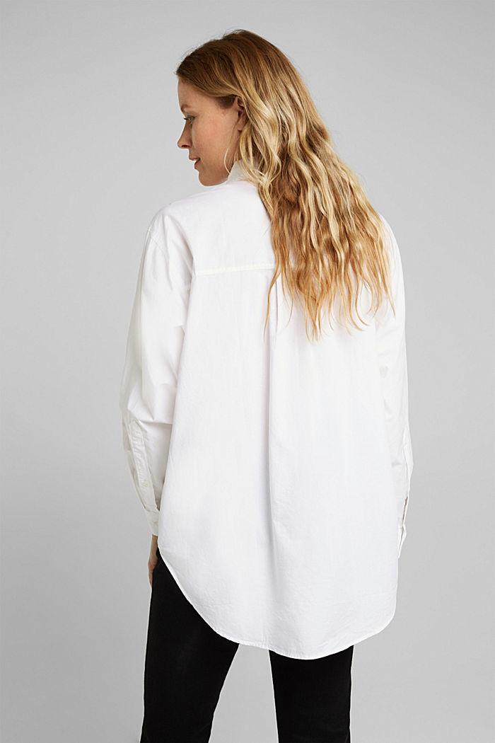 Bluse aus 100% Organic Cotton, WHITE, detail image number 3