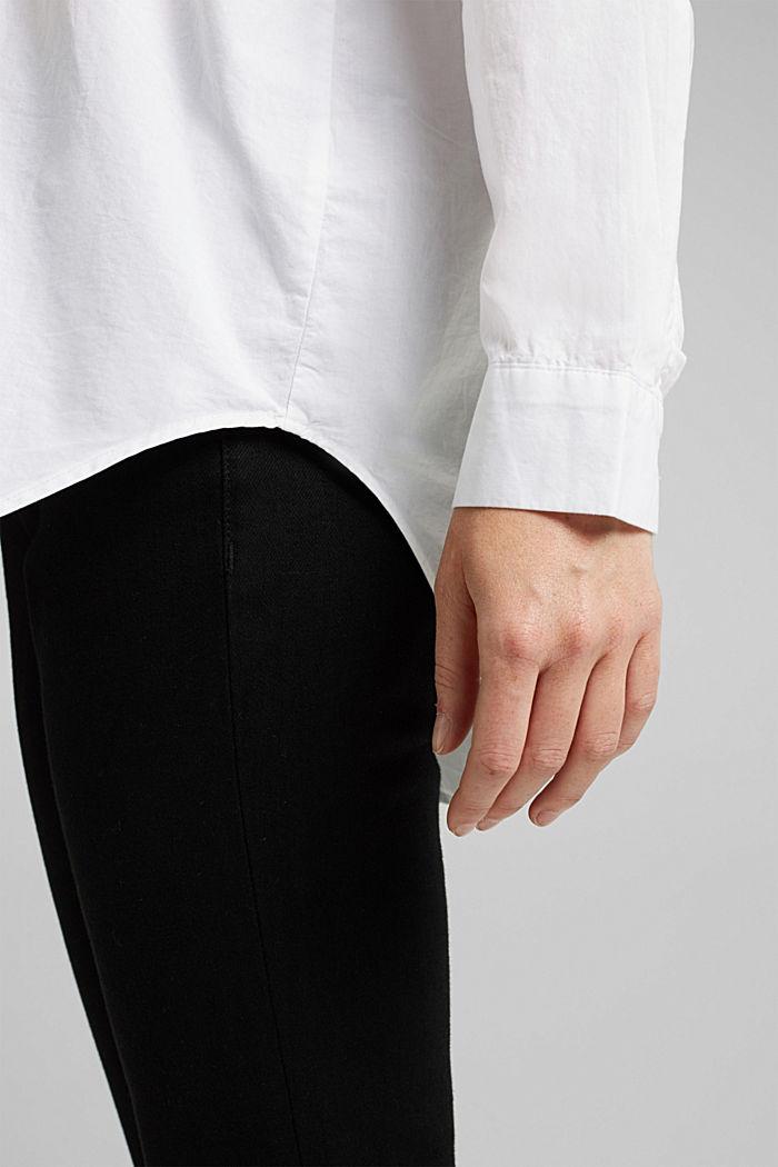 Bluse aus 100% Organic Cotton, WHITE, detail image number 5