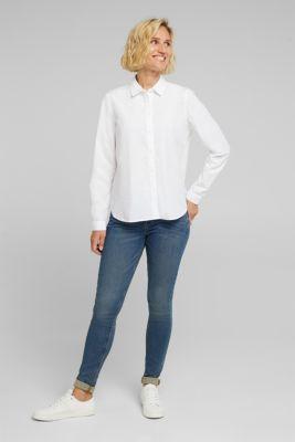 Blouse made of 100% organic cotton, WHITE, detail