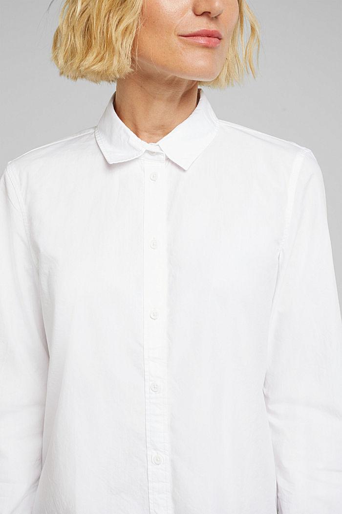 Bluse aus 100% Organic Cotton, WHITE, detail image number 2