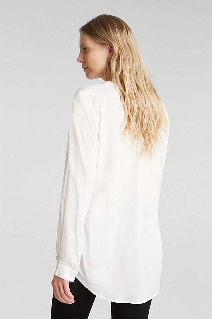 Bluse aus aus LENZING™ECOVERO™, OFF WHITE, detail image number 3