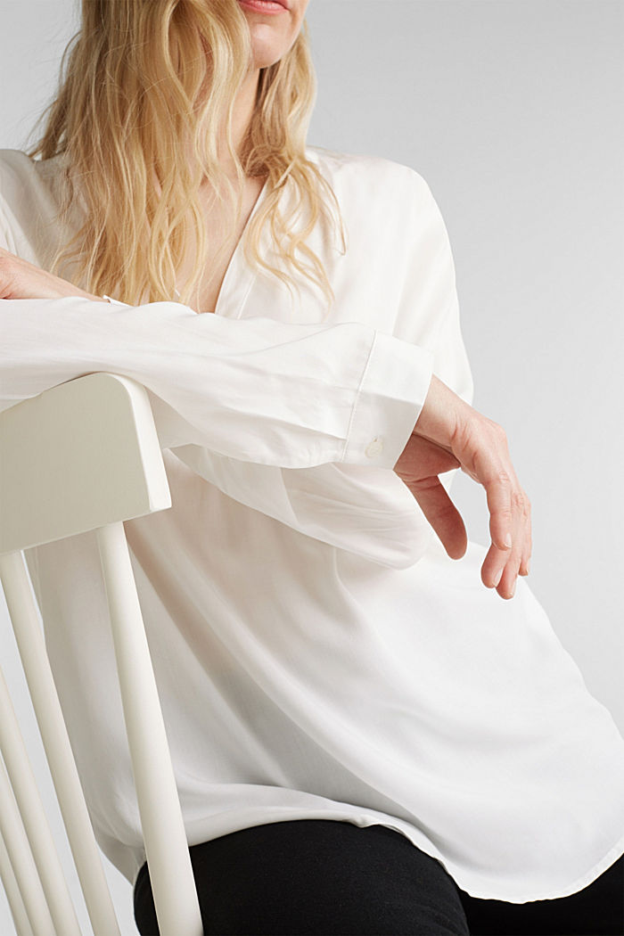 Bluse aus aus LENZING™ECOVERO™, OFF WHITE, detail image number 2