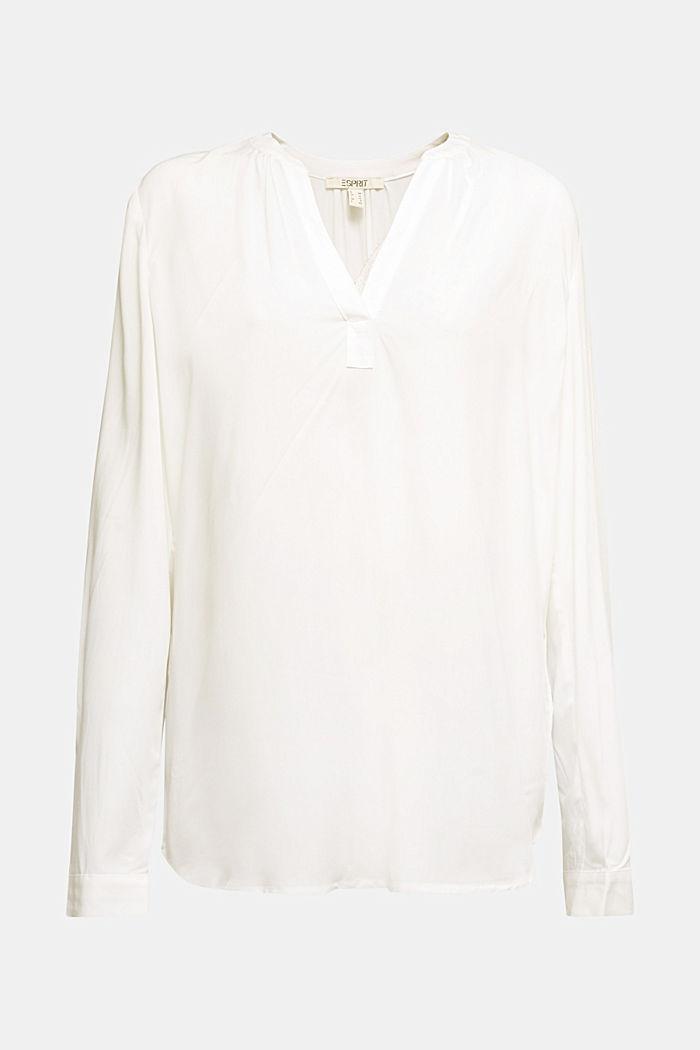 Bluse aus aus LENZING™ECOVERO™, OFF WHITE, detail image number 5