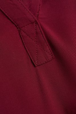 Blouse made of LENZING™ ECOVERO™, BORDEAUX RED, detail