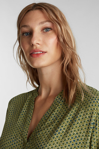 Henley blouse made of LENZING™ ECOVERO™