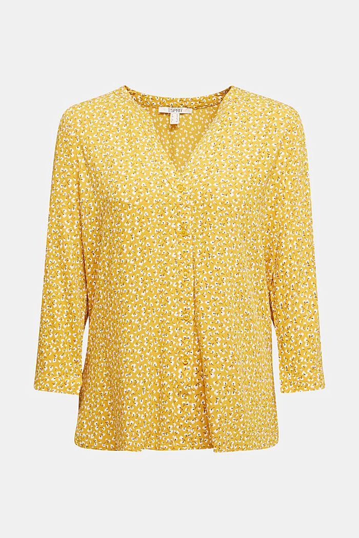LENZING™ ECOVERO blouse, BRASS YELLOW, detail image number 5