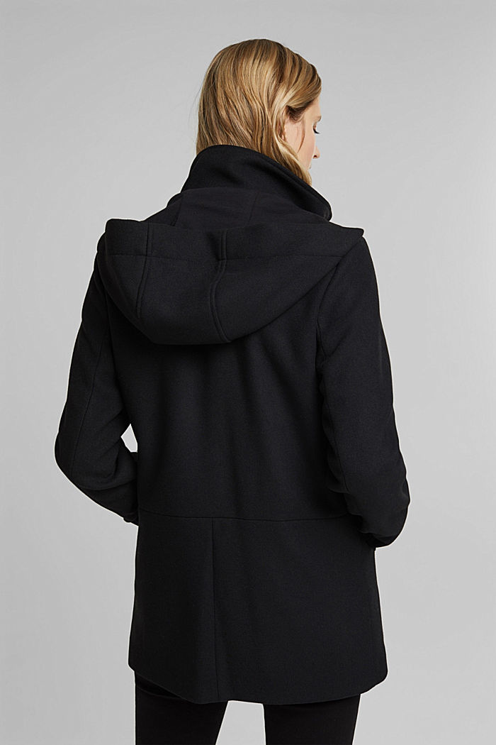 Jacket with recycled wool, BLACK, detail image number 3