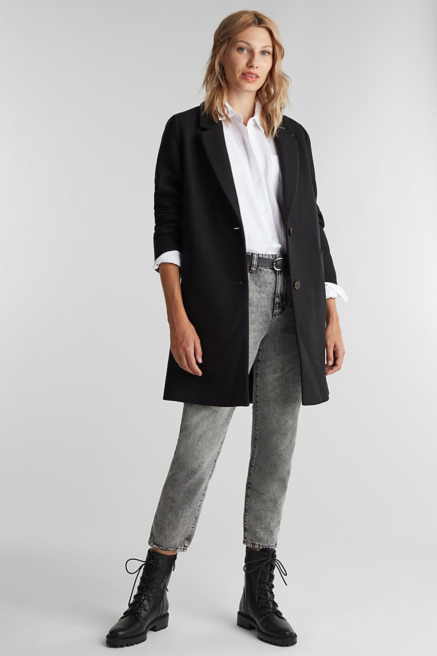 Recycled: blazer coat made of blended wool