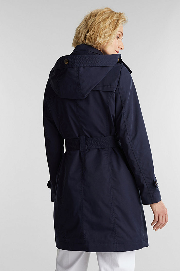 Trench coat with adjustable padding, NAVY, detail image number 3