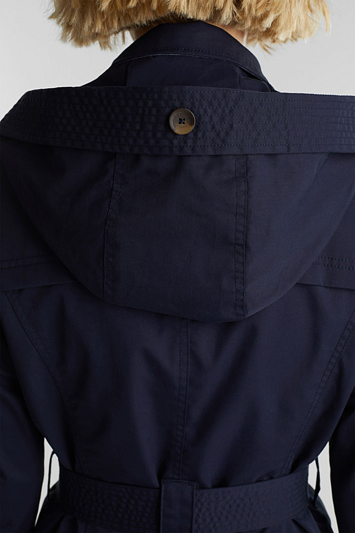 Trench coat with adjustable padding, NAVY, detail image number 2