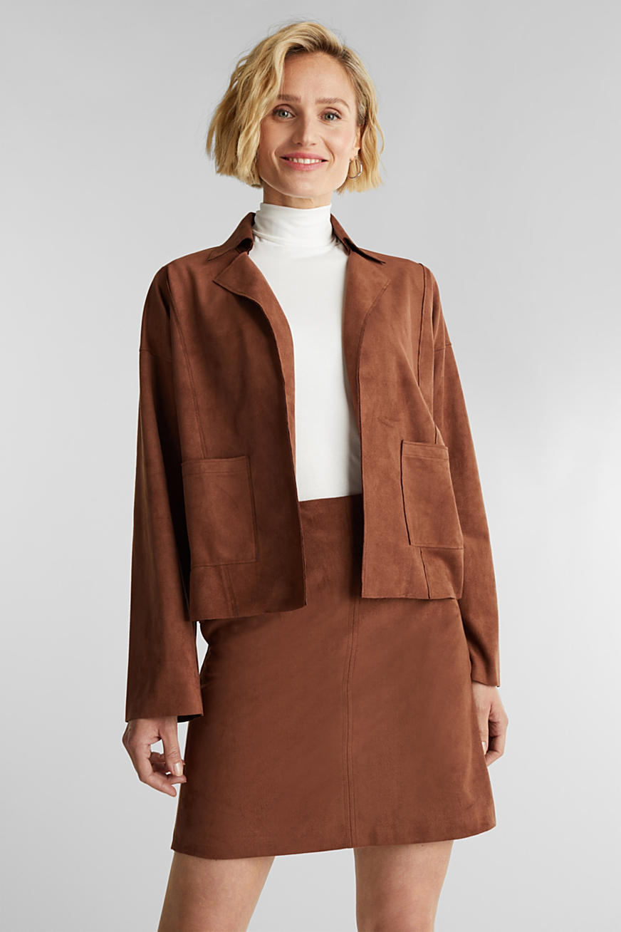 Recycled: faux suede jacket