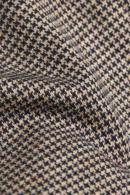 Jersey houndstooth blazer, CAMEL, detail