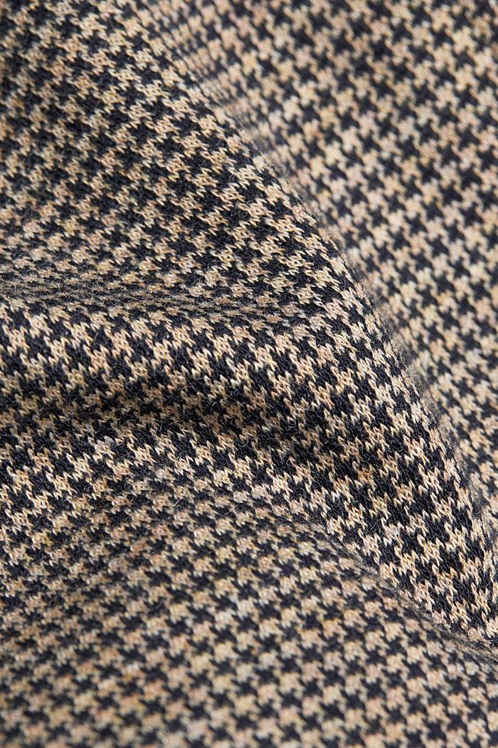 Jersey houndstooth blazer, CAMEL, detail image number 4
