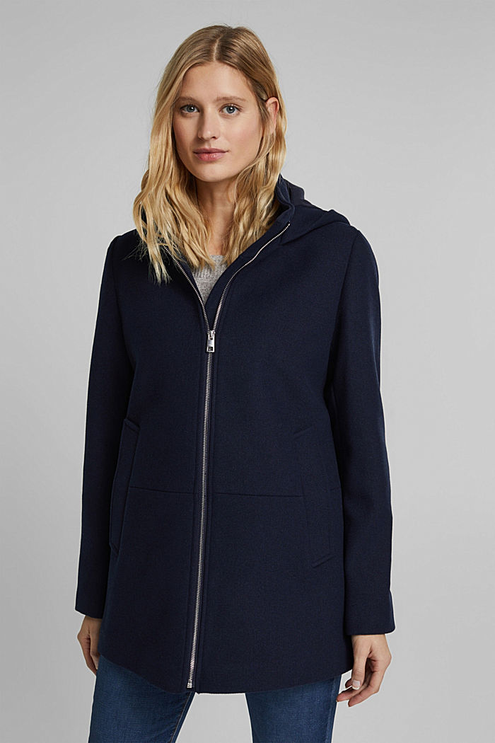 Recycled: Hoodie with wool