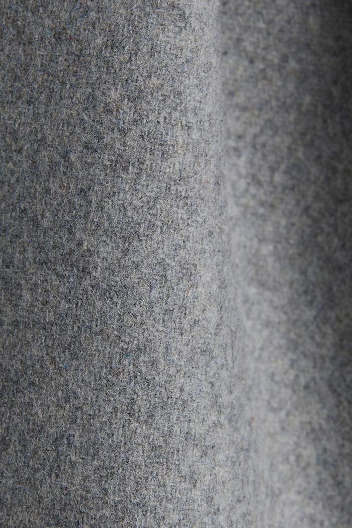 In materiale riciclato: giacca con cappuccio e lana, LIGHT GREY, detail image number 4