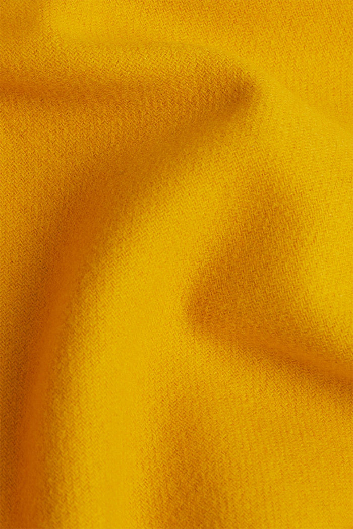 Recycled: Hoodie with wool, BRASS YELLOW, detail image number 3