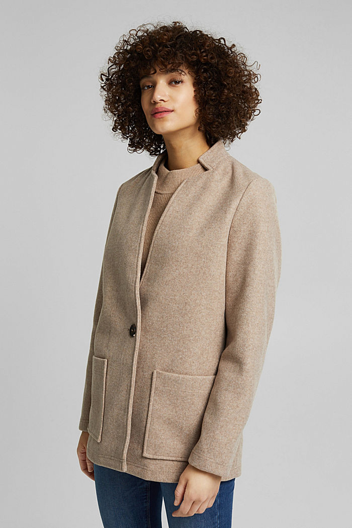 Recycled: faux wool jacket