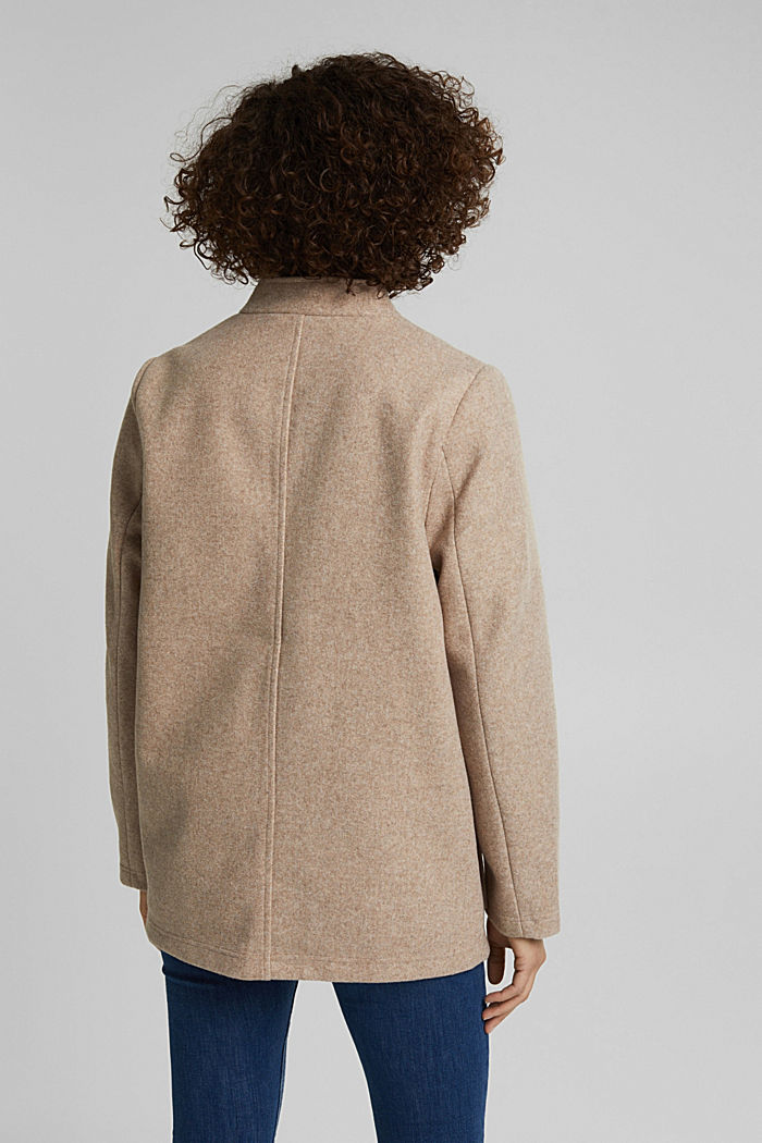 Recycled: faux wool jacket, CREAM BEIGE, detail image number 3