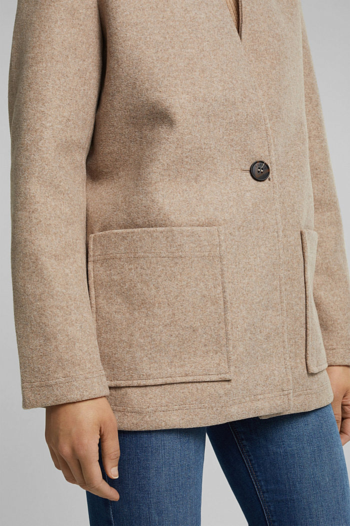 Recycled: faux wool jacket, CREAM BEIGE, detail image number 2