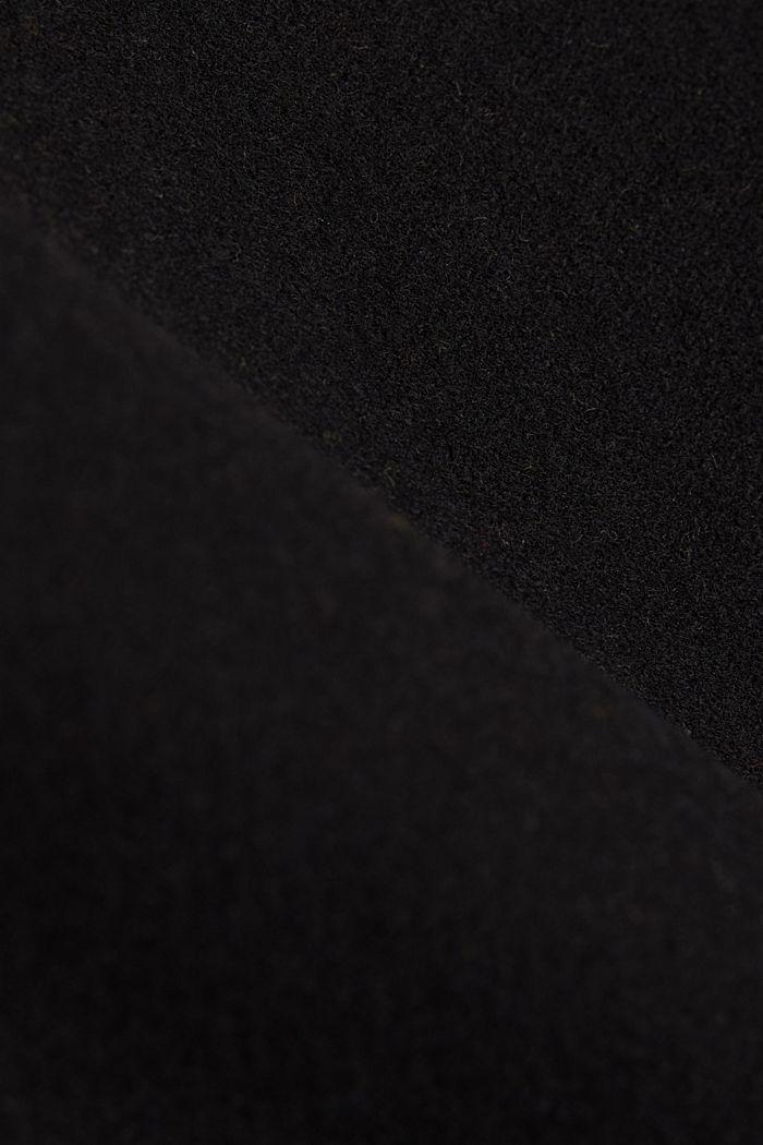 Curvy wool blend coat, recycled, BLACK, detail image number 4