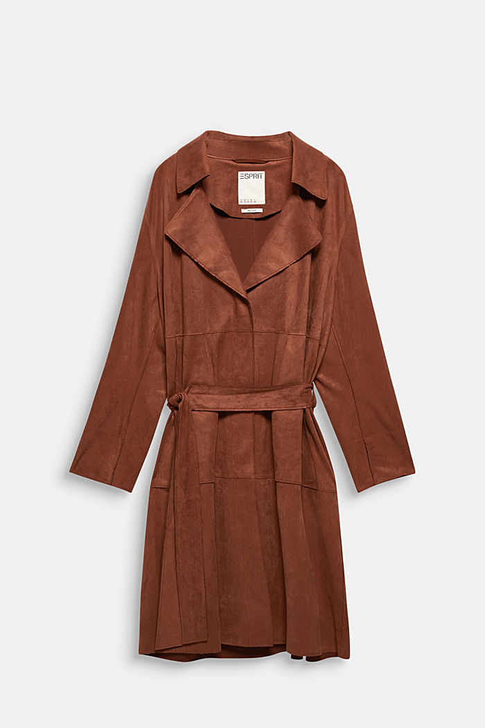 Curvy coat in faux suede