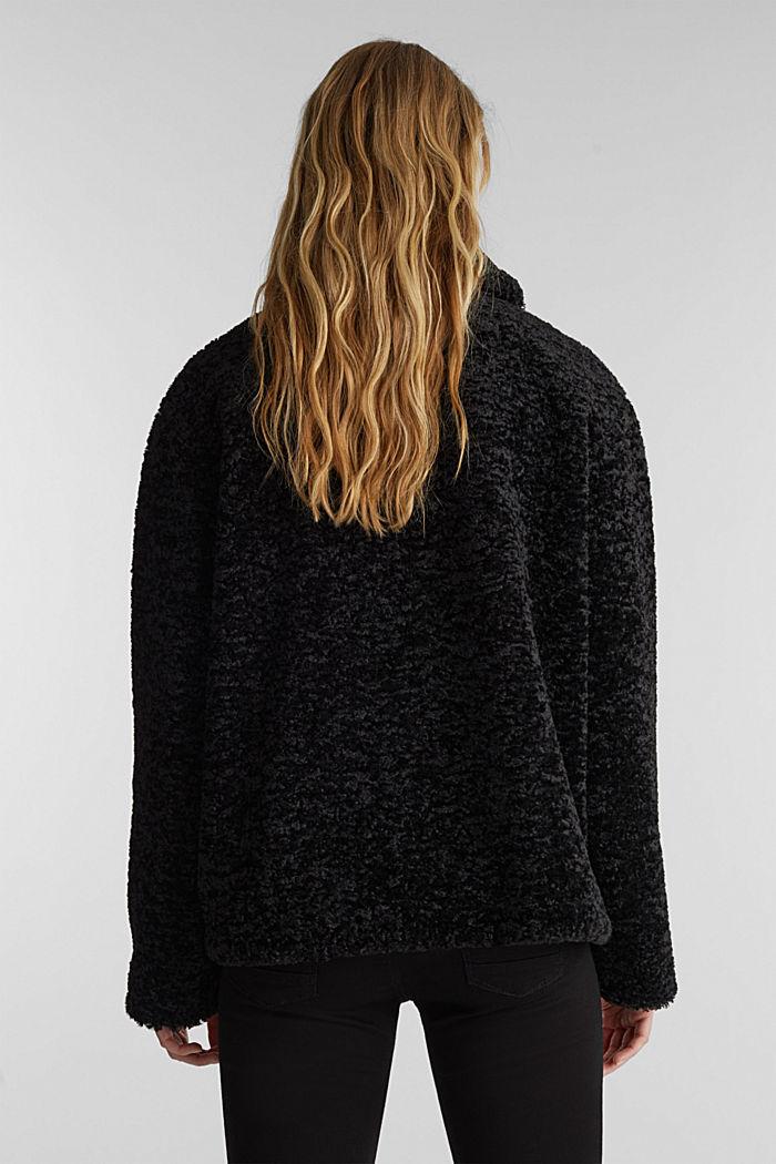 Faux fur jacket, BLACK, detail image number 3