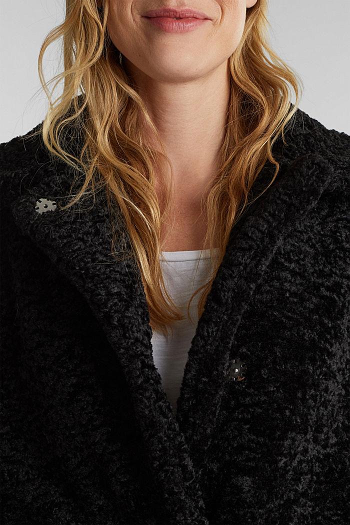 Faux fur jacket, BLACK, detail image number 2