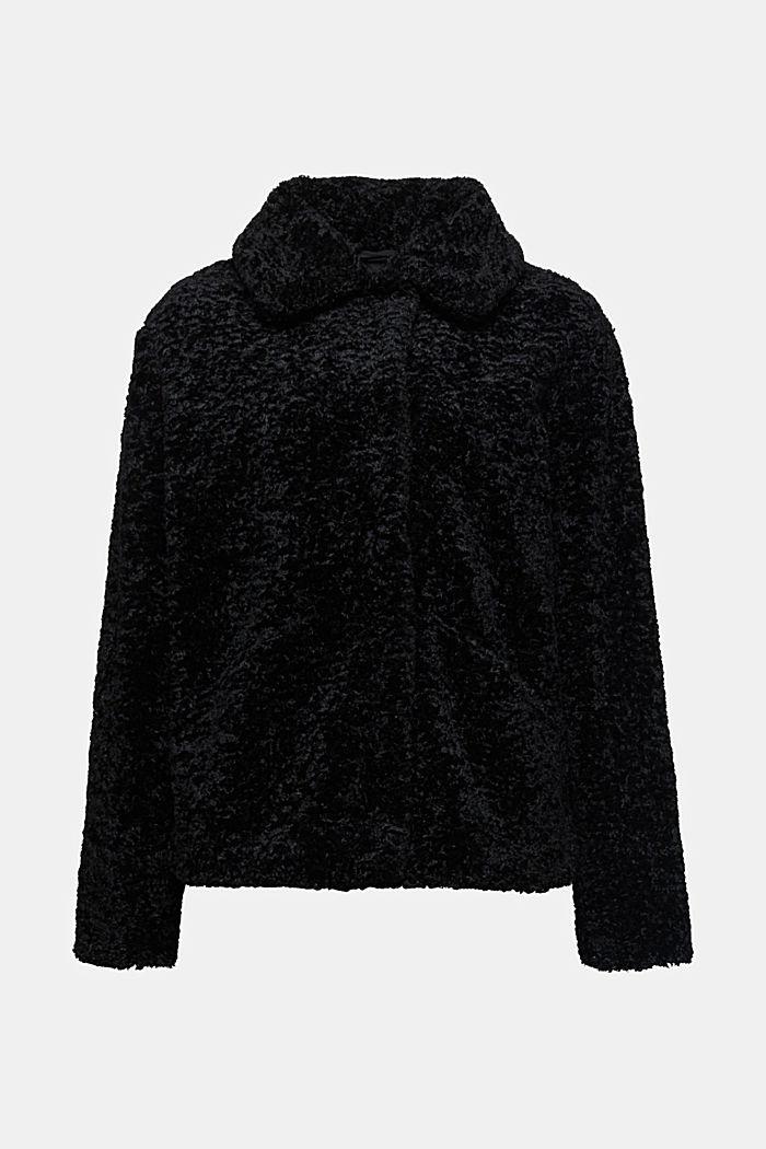 Faux fur jacket, BLACK, detail image number 5