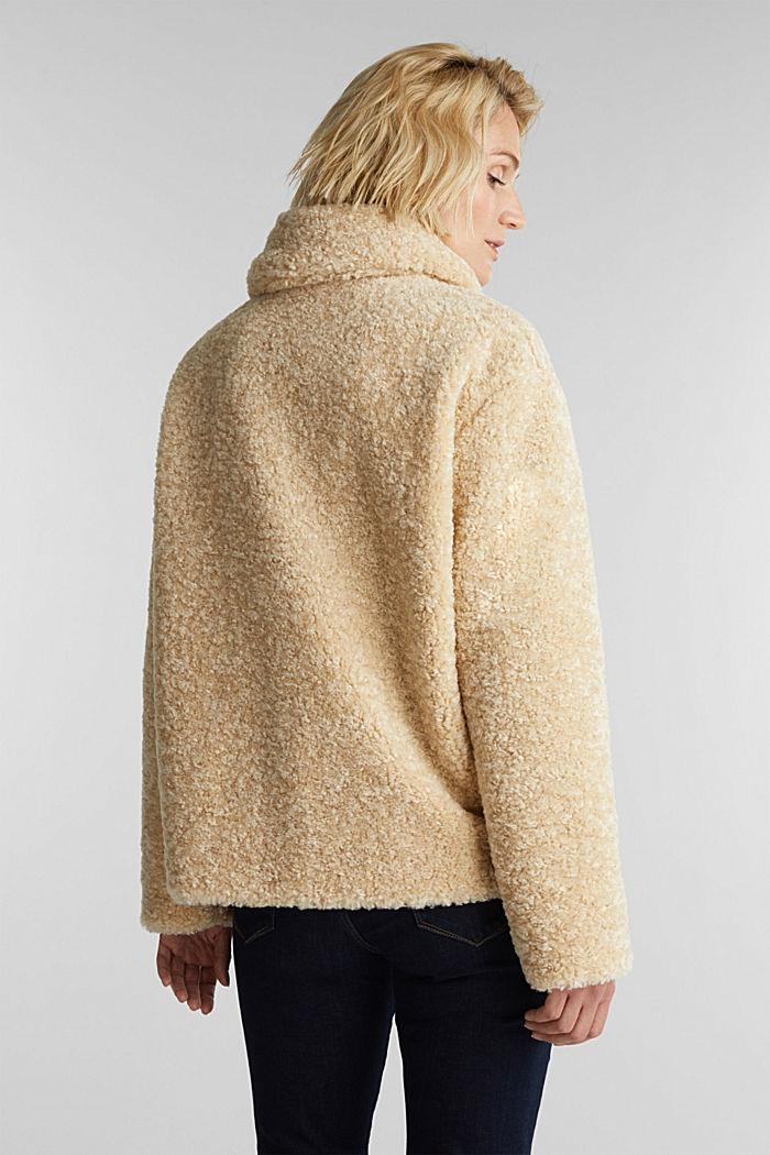 Jacke aus Fake Fur, CREAM BEIGE, detail image number 3