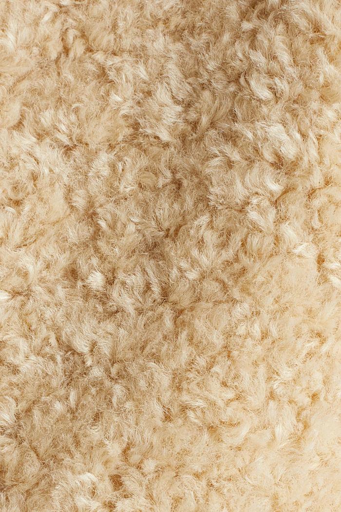 Jacke aus Fake Fur, CREAM BEIGE, detail image number 4