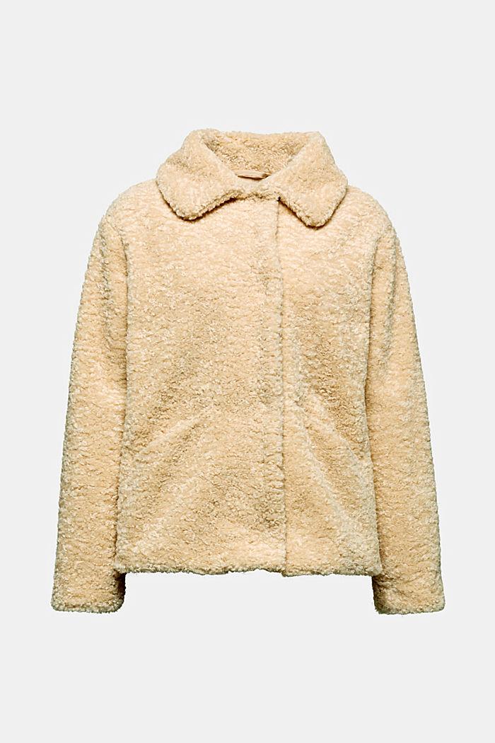 Jacke aus Fake Fur, CREAM BEIGE, detail image number 6