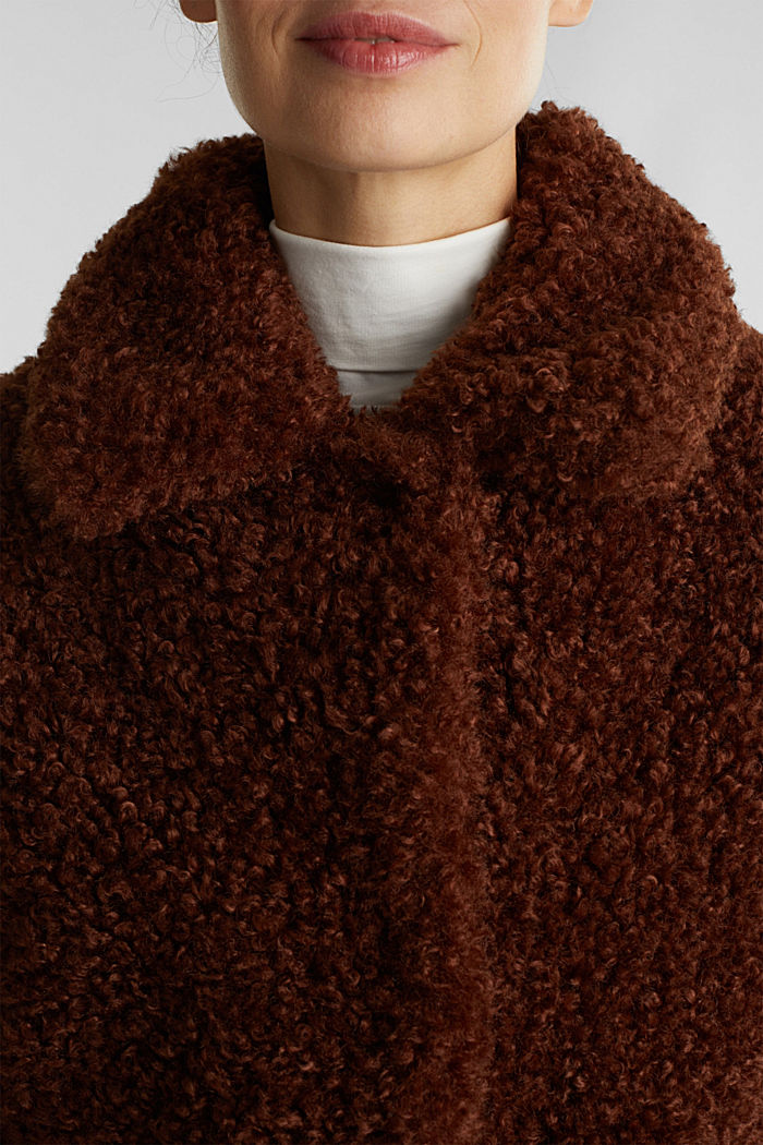 Faux fur fabric, BROWN, detail image number 2