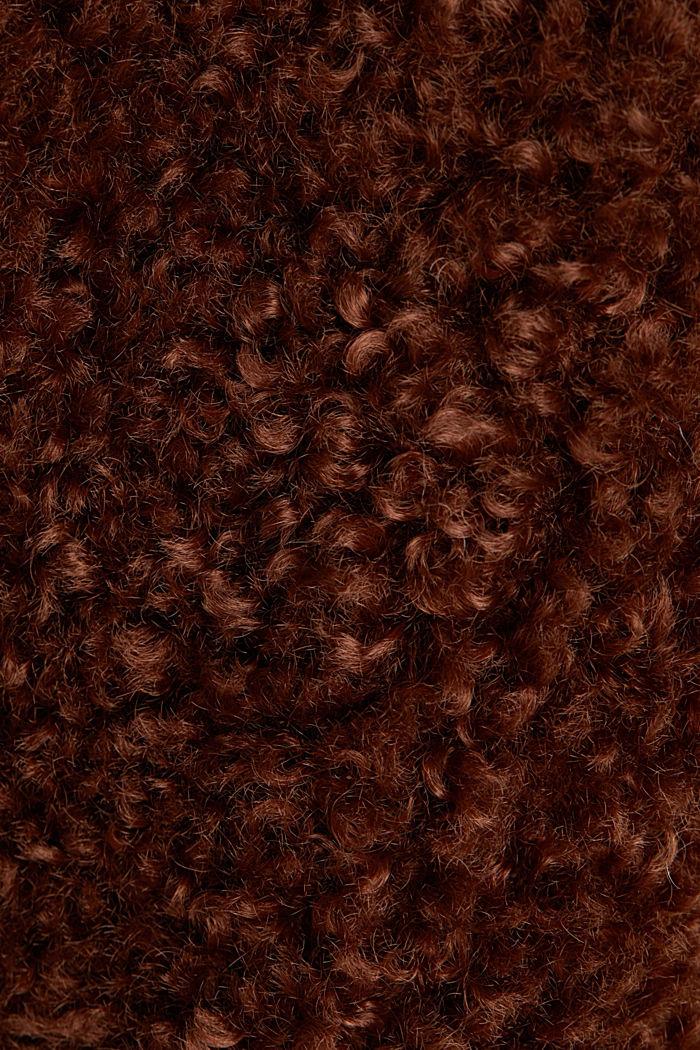 Faux fur fabric, BROWN, detail image number 4