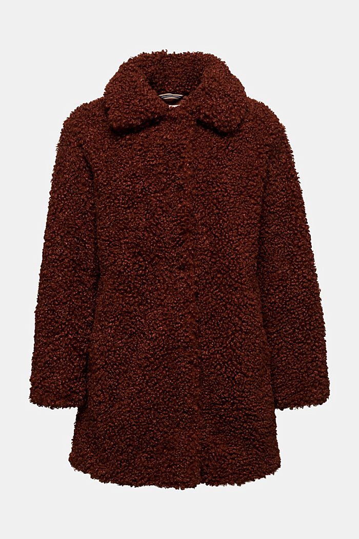 Faux fur fabric, BROWN, overview