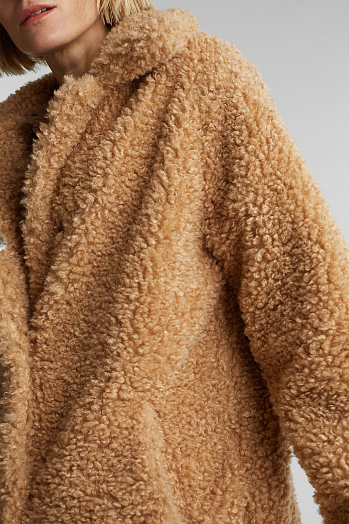 Faux fur fabric, BEIGE, detail image number 2