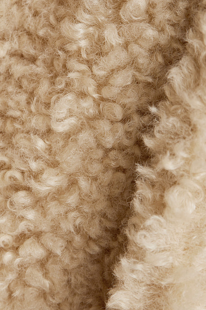 Faux fur fabric, CREAM BEIGE, detail image number 4