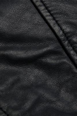 100% leather biker jacket, BLACK, detail