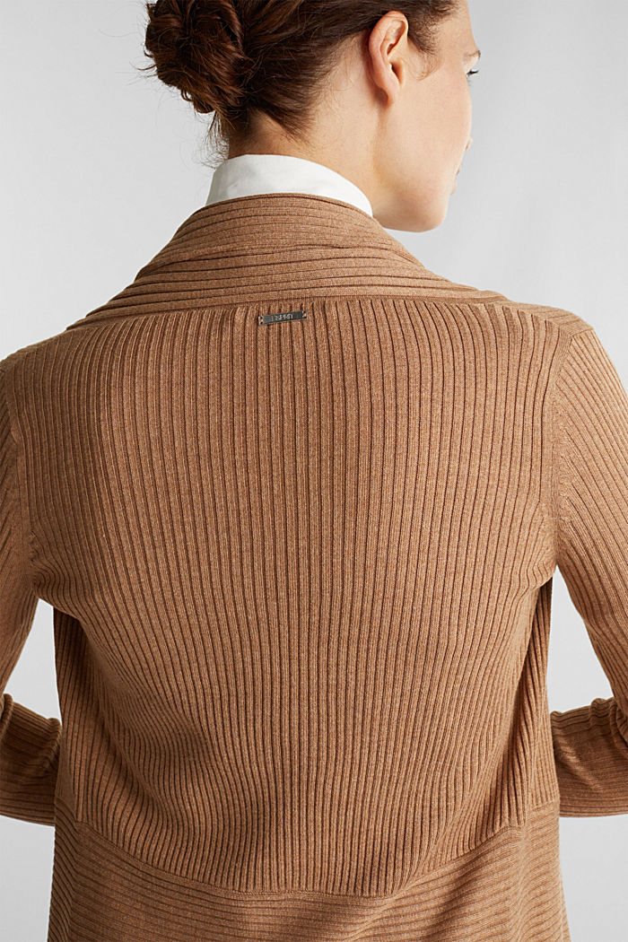 Recycled: mixed rib cardigan, CAMEL, detail image number 2