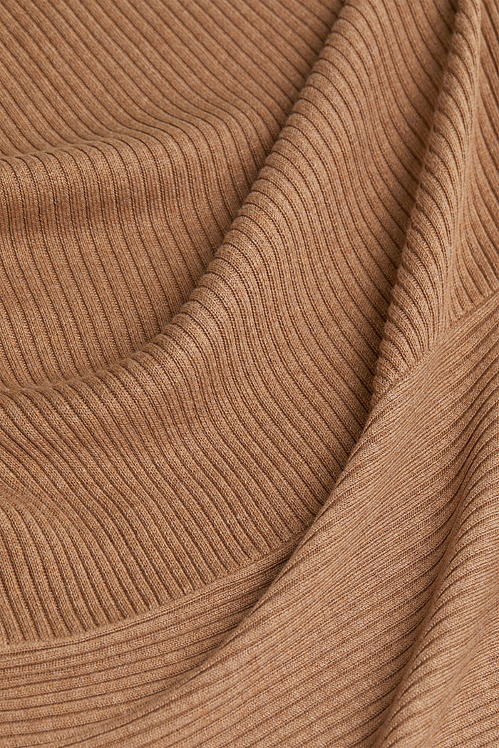 Recycled: mixed rib cardigan, CAMEL, detail image number 4