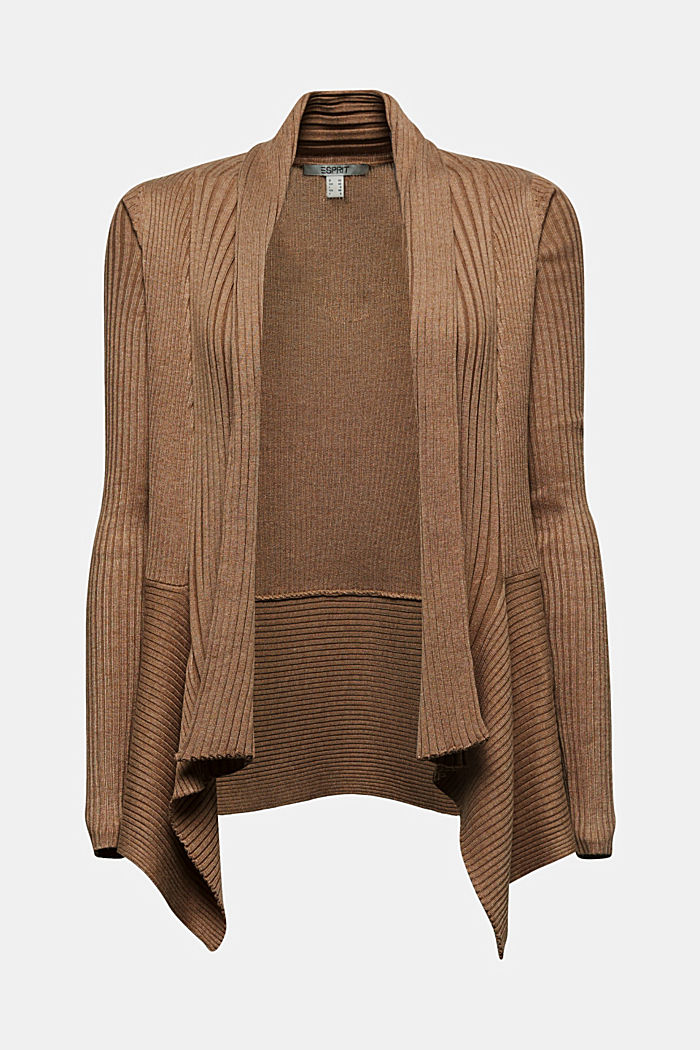 Recycled: mixed rib cardigan, CAMEL, detail image number 7