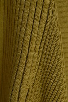 Recycled: mixed rib cardigan, OLIVE 5, detail