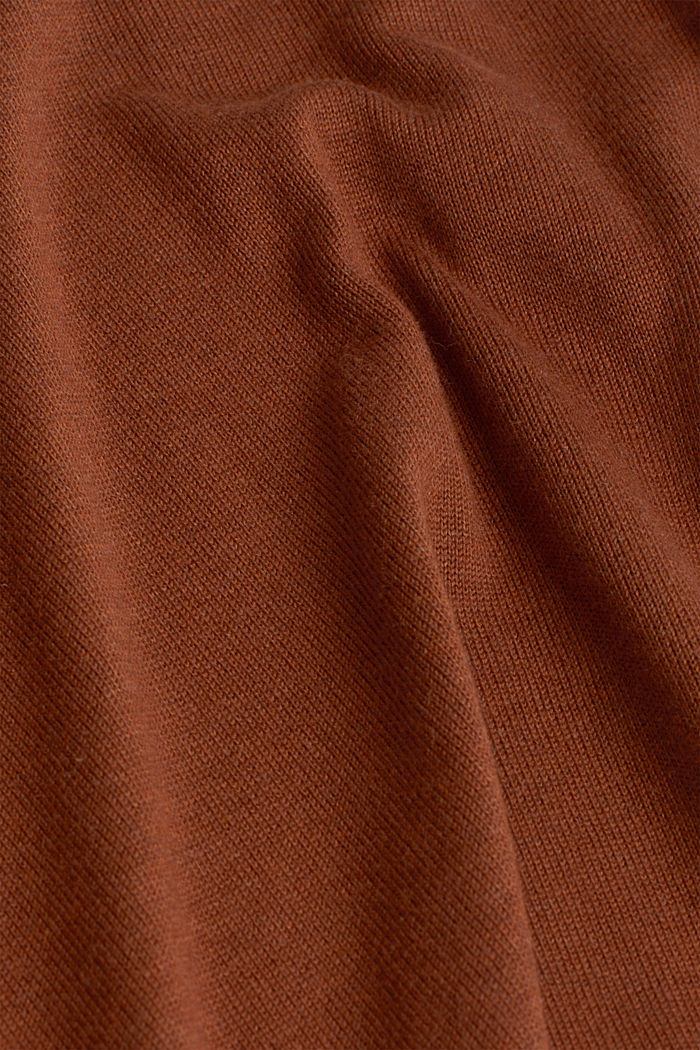 Open cardigan with organic cotton, TOFFEE, detail image number 4