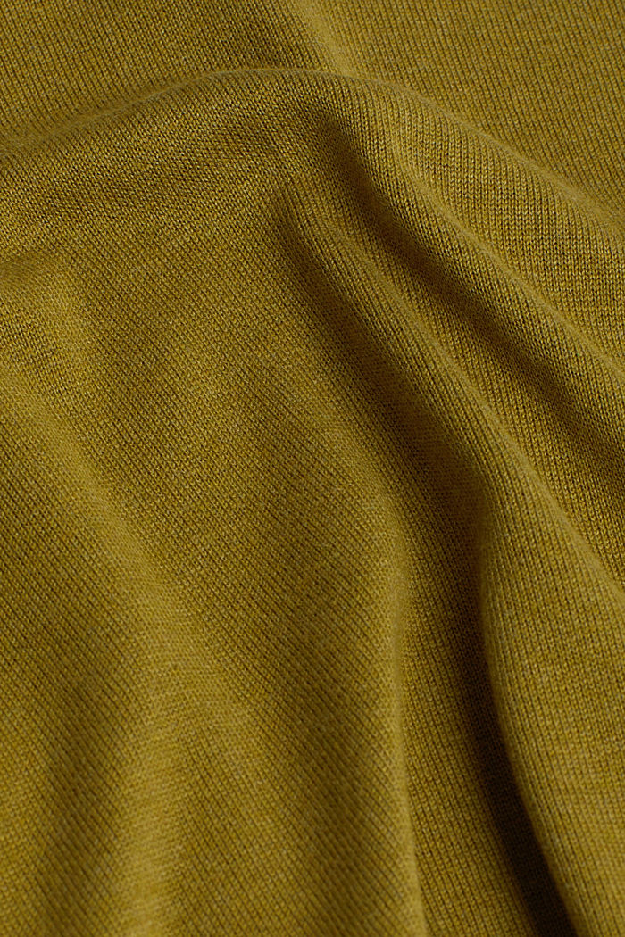 Open cardigan with organic cotton, OLIVE, detail image number 4