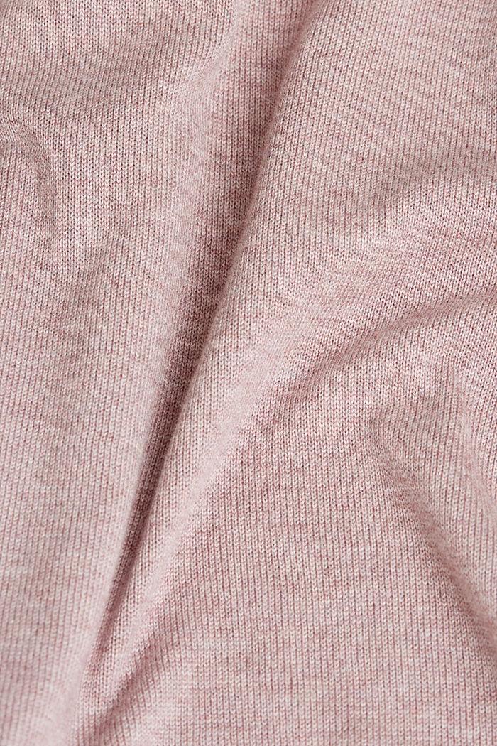 Kardigan bez zapínání, s bio bavlnou, MAUVE, detail image number 4