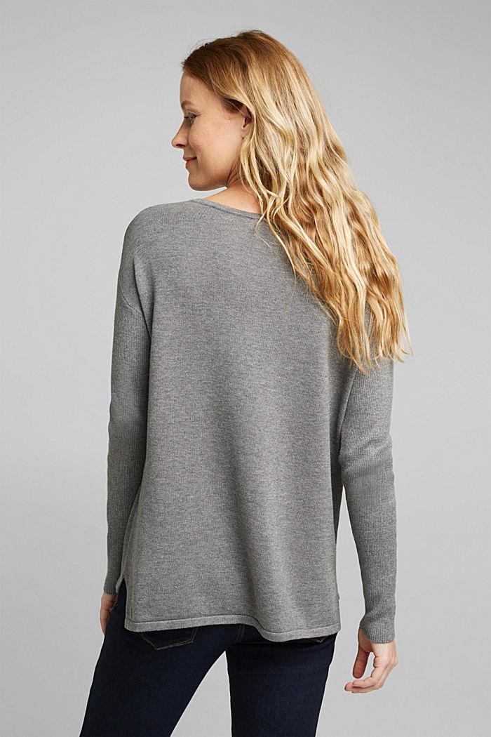 Basic jumper with organic cotton, GUNMETAL, detail image number 2